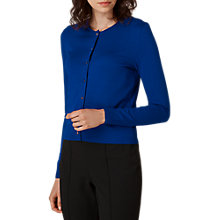 Buy L.K. Bennett Andie Pearl Button Cardigan, Blu-klein Blue Online at johnlewis.com