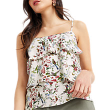 Buy Oasis Royal Worcester Collection Floral Print Cami, Natural/Multi Online at johnlewis.com