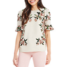 Buy Oasis Royal Worcester Collection Flute Sleeve Blouse, Off White Online at johnlewis.com