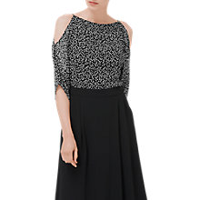 Buy L.K. Bennett Elif Silk Top, Black Online at johnlewis.com