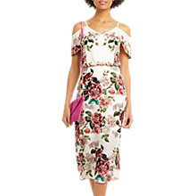 Buy Oasis Royal Worcester Collection Floral Midi Dress, Off White Online at johnlewis.com