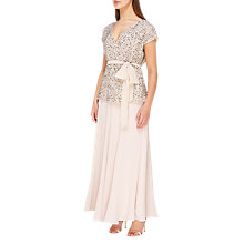 Buy Jacques Vert Godet Maxi Skirt, Mid Neutral Online at johnlewis.com