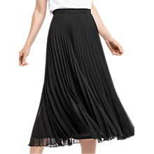 Buy Oasis Pleated Skirt, Black Online at johnlewis.com