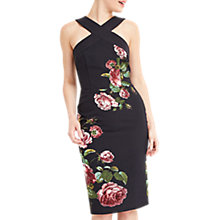 Buy Oasis Royal Worcester Collection Floral Pencil Dress, Black/Multi Online at johnlewis.com