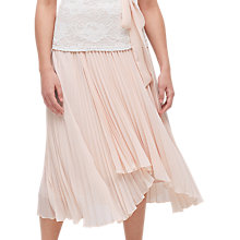 Buy Jacques Vert High Low Plisse Skirt, Mid Neutral Online at johnlewis.com