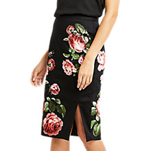 Buy Oasis Royal Worcester Collection Floral Pencil Skirt, Black/Multi Online at johnlewis.com