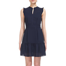 Buy Whistles Raechelle Frill Sleeve Dress, Navy Online at johnlewis.com