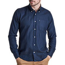 Buy Barbour Don Shirt, Navy Online at johnlewis.com