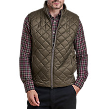 Buy Barbour Keelson Quilt Gilet, Olive Online at johnlewis.com
