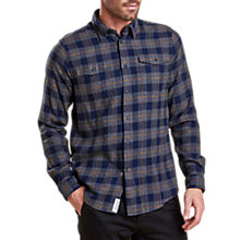 Buy Barbour Mizen Long Sleeve Shirt, Grey Marl Online at johnlewis.com