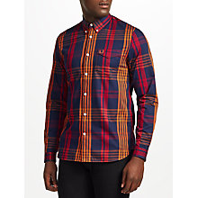 Buy Fred Perry Twill Check Shirt, Rosewood Online at johnlewis.com