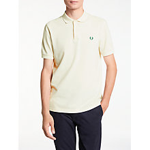 Buy Fred Perry The Original Polo Shirt, Porcelain/Tartan Green Laurel Online at johnlewis.com