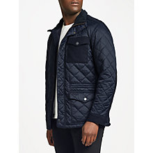 Buy Barbour Land Rover Defender Anmer Quilted Mid-Length Jacket, Navy Online at johnlewis.com