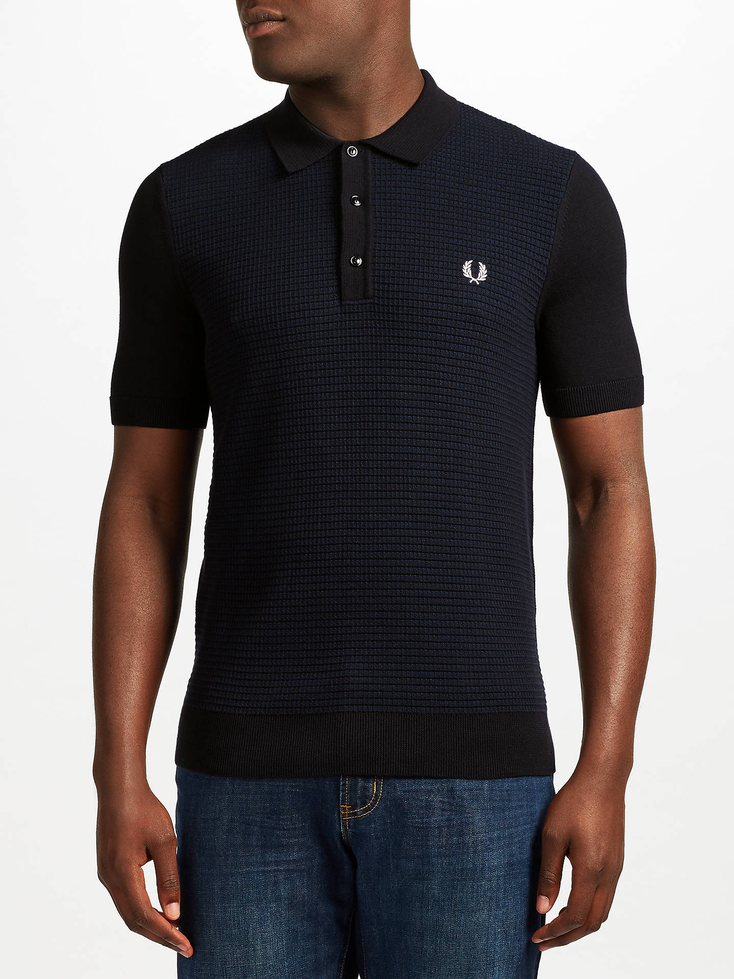 a76b38a37 Buy Fred Perry Textured Knit Polo Shirt