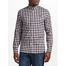 Buy Fred Perry Reverse Tartan Shirt, White Online at johnlewis.com