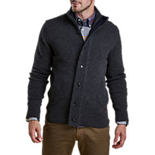 Buy Barbour Patch Zip Through Sweater, Charcoal Marl Online at johnlewis.com
