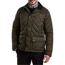Buy Barbour Land Rover Defender Horstead Quilted Jacket, Olive Online at johnlewis.com
