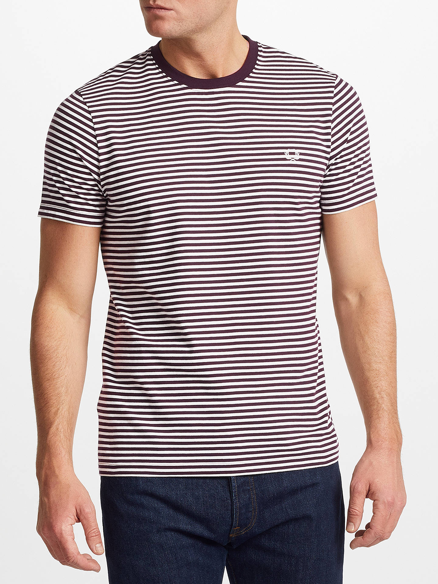 5074d7cba Fred Perry Feeder Striped T-Shirt at John Lewis   Partners