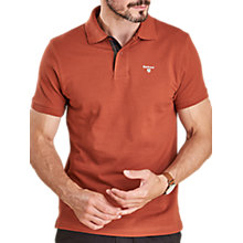 Buy Barbour Tartan Pique Polo Shirt, Dark Clay Online at johnlewis.com