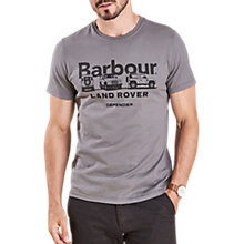 Buy Barbour Land Rover Defender Lingmell T-Shirt, Slate Grey Online at johnlewis.com