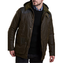 Buy Barbour Land Rover Defender Hales Waxed Jacket, Olive Online at johnlewis.com