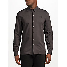 Buy Fred Perry Brushed Oxford Shirt, Black Online at johnlewis.com