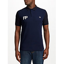 Buy Fred Perry Logo Pique Polo Top, Navy Online at johnlewis.com