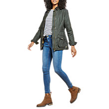 Buy Joules Balmoral Wax Style Jacket, Everglade Online at johnlewis.com