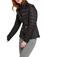 Buy Joules Moritz Padded Feather and Down Jacket, Black Online at johnlewis.com