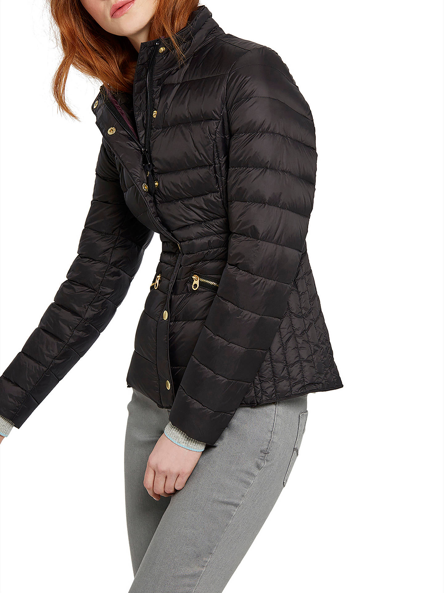 07bbd097dd1 Buy Joules Moritz Padded Feather and Down Jacket, Black, 8 Online at  johnlewis.