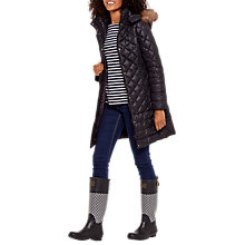 Buy Joules Snowshill Padded Coat, Black Online at johnlewis.com
