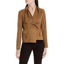 Buy Max Studio Suedette Jacket, Vicuna Online at johnlewis.com