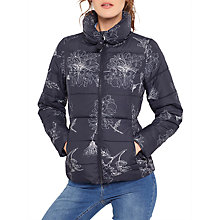 Buy Joules Florian Printed Padded Coat, Marine Navy Peony Online at johnlewis.com