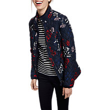 Buy Joules Newdale Quilted Printed Jacket, Marine Navy Fay Floral Online at johnlewis.com