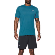 Buy Under Armour Threadborne Streaker Short Sleeve Running T-Shirt, Blue Online at johnlewis.com