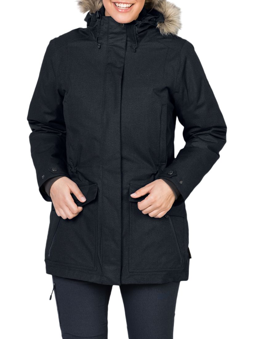 1b1be8f9c5e Jack Wolfskin Coastal Range Waterproof Women's Parka, Black at John ...