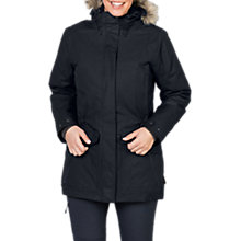 Buy Jack Wolfskin Coastal Range Waterproof Women's Parka, Black Online at johnlewis.com