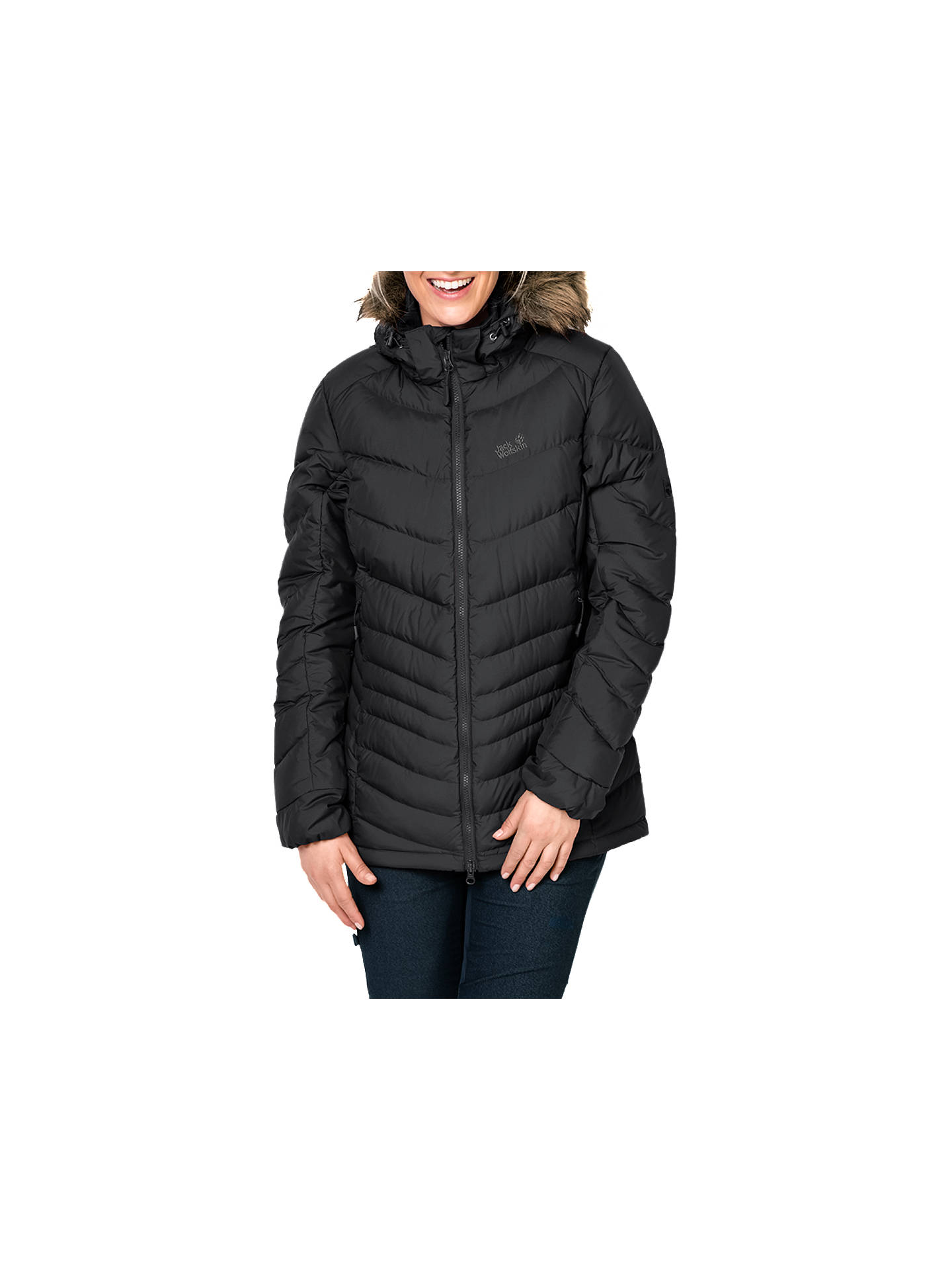 203e0f1ab3 Buy Jack Wolfskin Selenium Bay Windproof Women's Jacket, Black, XS Online  at johnlewis.