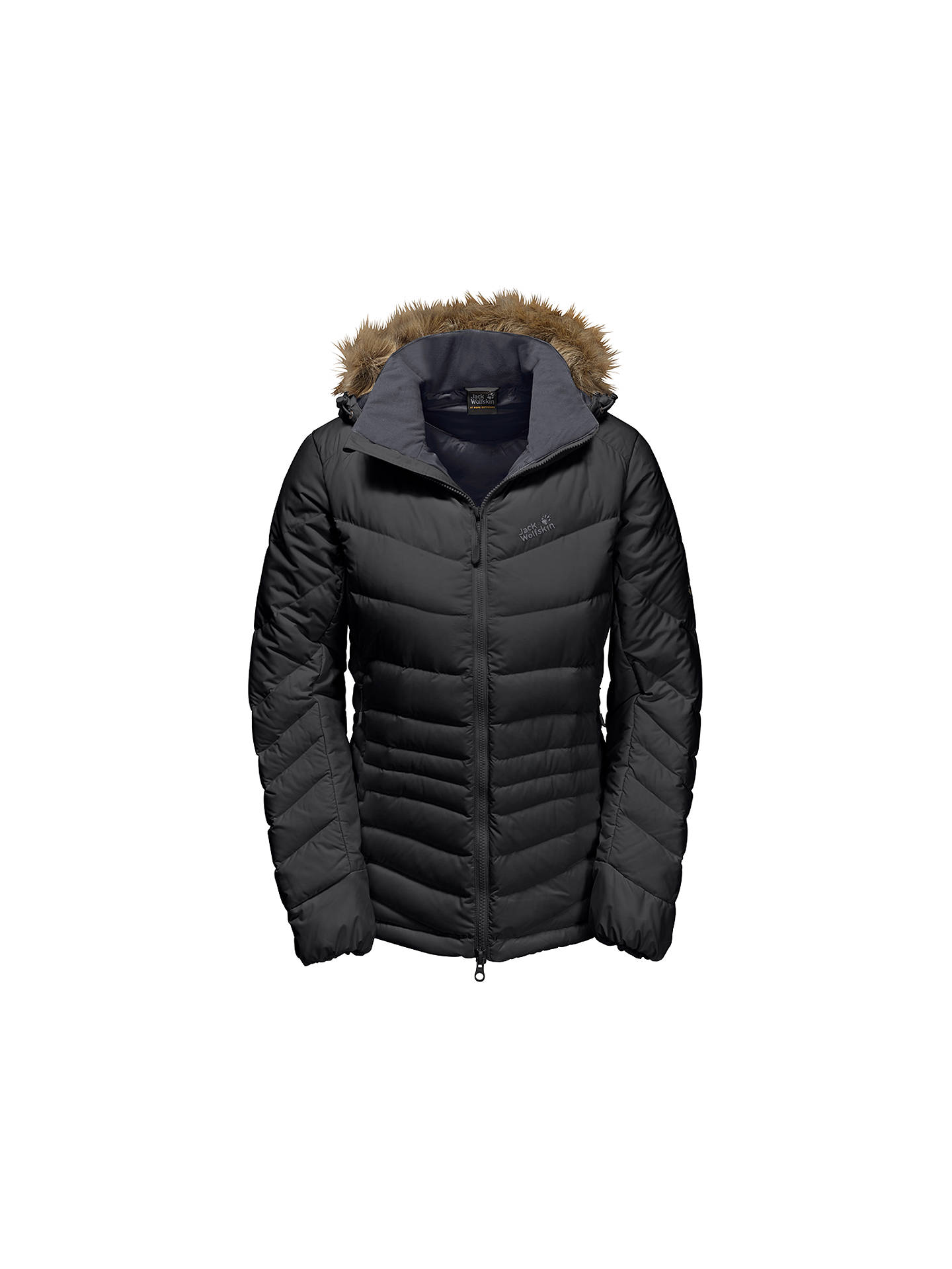 884b5ba0f16 Buy Jack Wolfskin Selenium Bay Windproof Women's Jacket, Black, XS Online  at johnlewis.