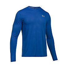 Buy Under Armour Threadborne Streaker Long Sleeve Running T-Shirt, Blue Online at johnlewis.com