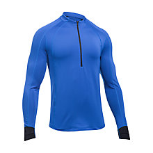 Buy Under Armour ColdGear Reactor Half-Zip Top, Blue Online at johnlewis.com