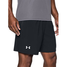 "Buy Under Armour Launch 7"" Running Shorts, Black Online at johnlewis.com"