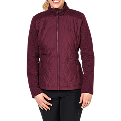 Jack Wolfskin Echo Pass 3-in-1 Insulated Waterproof Women's Jacket, Red