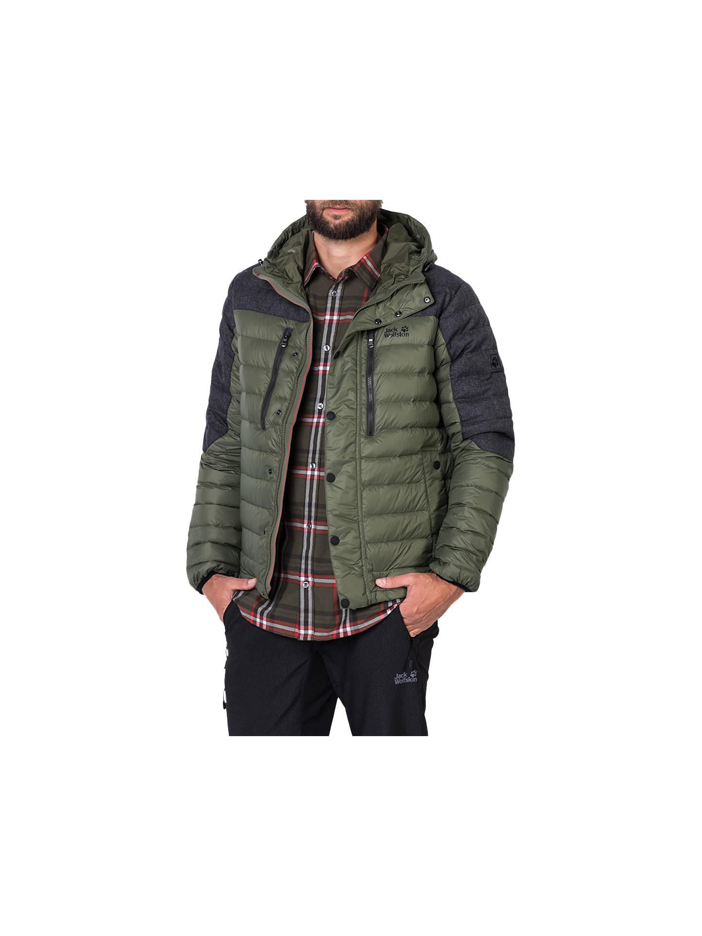 Farben und auffällig elegantes und robustes Paket Repliken Jack Wolfskin Richmond Men's Down Jacket, Green at John ...