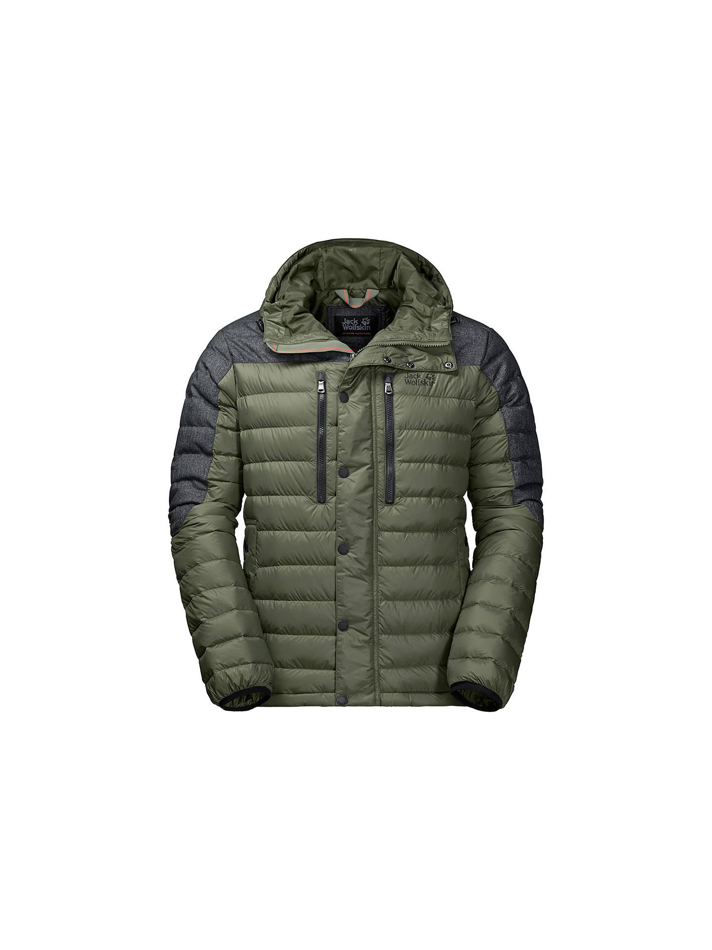 5fca0bad4f ... Buy Jack Wolfskin Richmond Men's Down Jacket, Green, S Online at  johnlewis.com