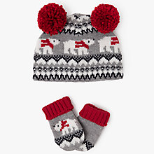 Buy John Lewis Baby Fair Isle Bobble Hat and Gloves Set, Multi Online at johnlewis.com