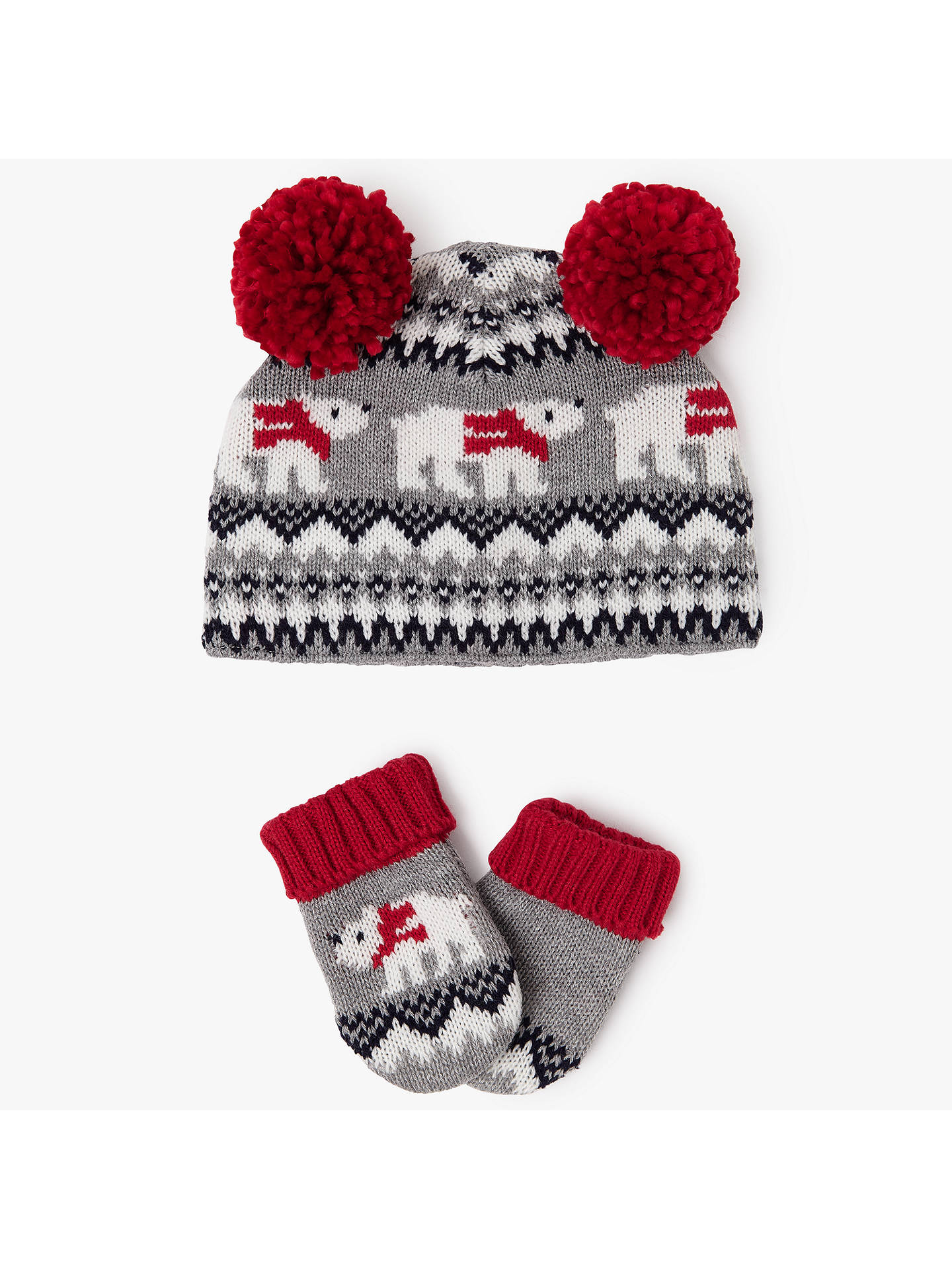 6fcae3b986e BuyJohn Lewis Baby Fair Isle Bobble Hat and Gloves Set