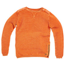 Buy Angel & Rocket Boys' Ripple Knit Jumper, Orange Online at johnlewis.com