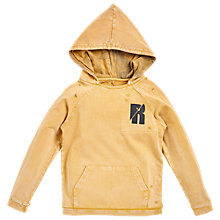 Buy Angel & Rocket Boys' Oil Wash Hoodie, Yellow Online at johnlewis.com