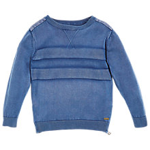 Buy Angel & Rocket Boys' Stonewash Knit Jumper, Blue Online at johnlewis.com